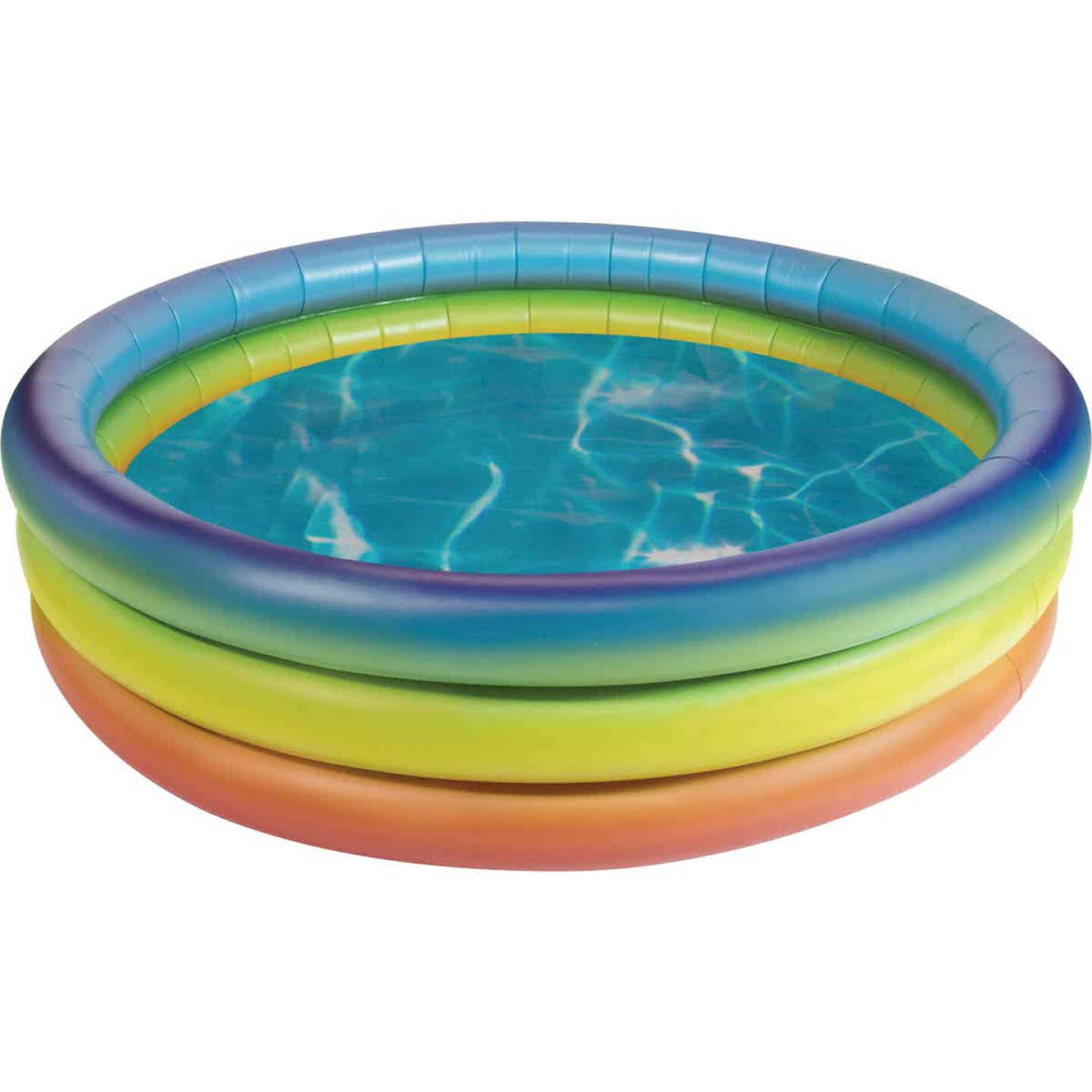PoolCandy 15 In. D. x 60 In. Dia. Rainbow Haze Inflatable Sunning Pool Image 1