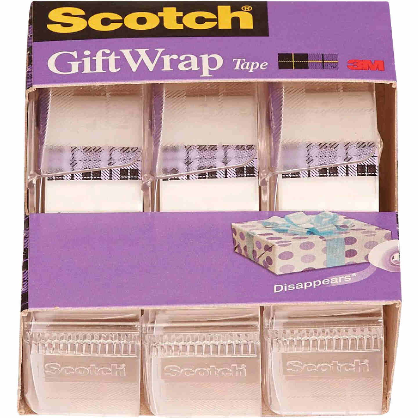 3M Scotch 3/4 In. x 300 In. Gift-Wrap Transparent Tape (3-Pack) Image 1