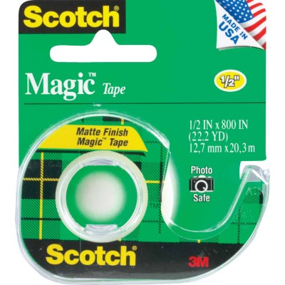 3M Scotch 1/2 In. x 800 In. Magic Transparent Tape