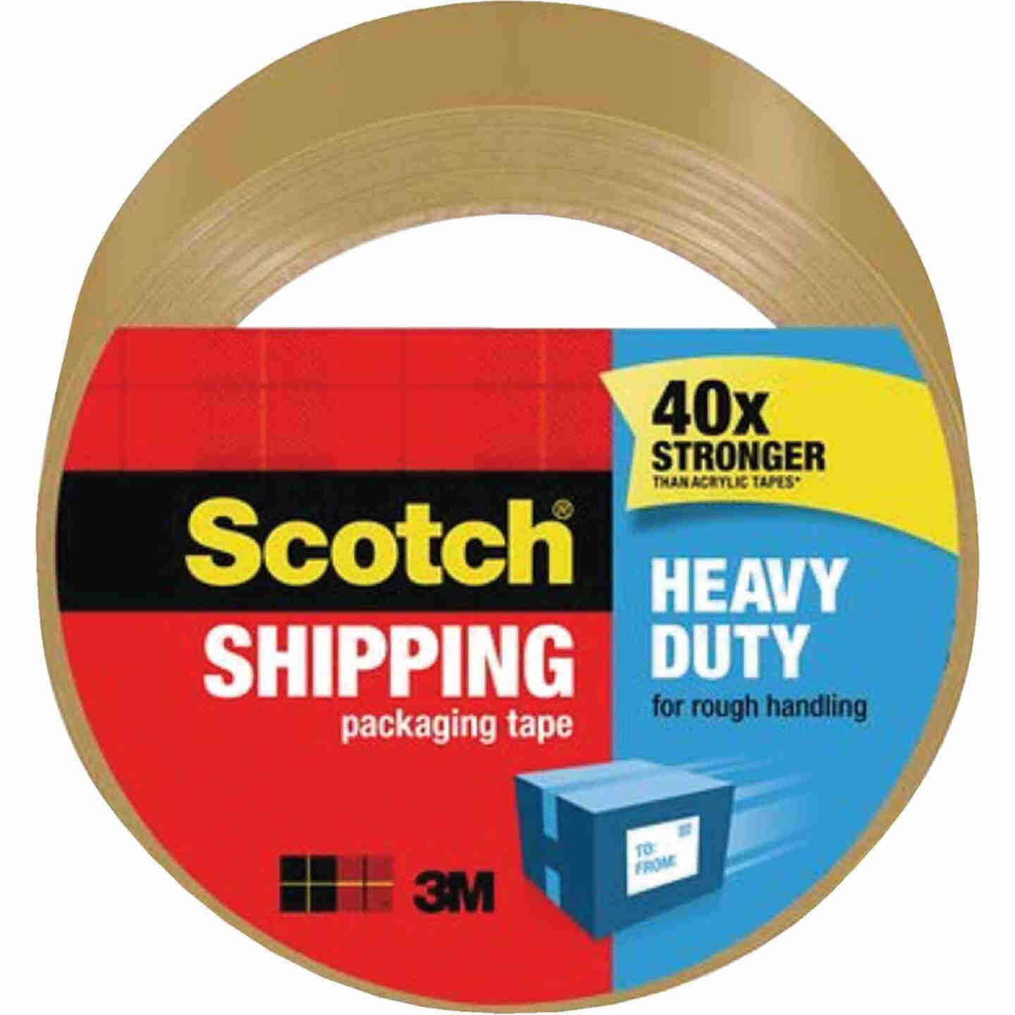 3M Scotch 1.88 In. X 54.6 Yd. High Performance Tan Packaging Tape Image 1